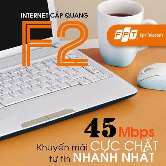 Khuyến mãi lắp đặt gói cước cáp quang FPT Fiber F2