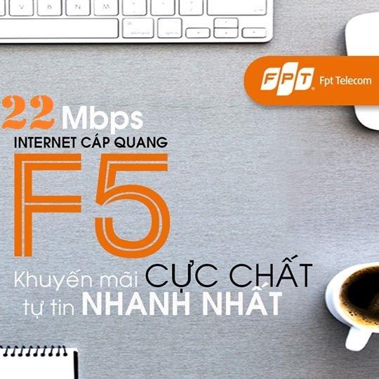 Khuyến mãi lắp đặt gói cước cáp quang FPT Fiber F5