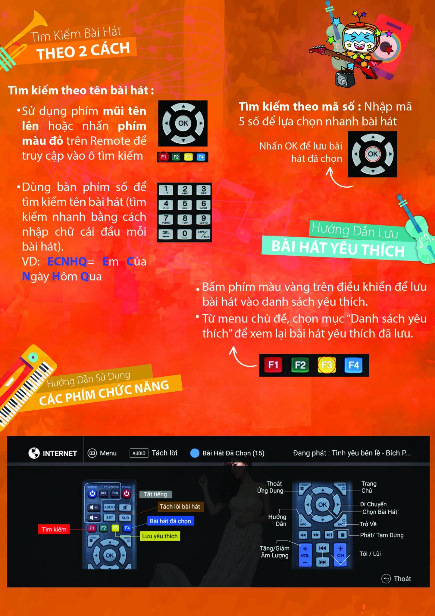 hướng dẫn sử dụng tìm bài hát trên karativi