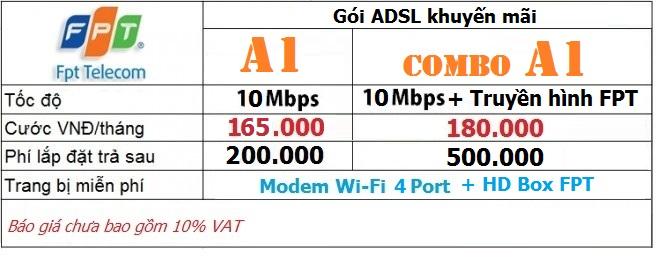 Báo giá lắp mạng ADSL FPT tại Huế