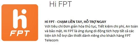 Hi FPT - CHẠM LIỀN TAY, HỖ TRỢ NGAY;