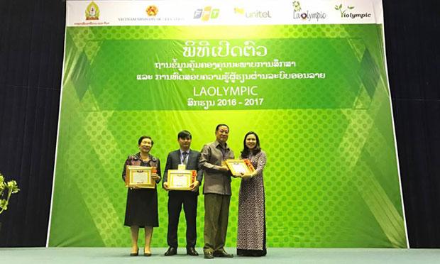 Đại học FPT 'xuất khẩu' cuộc thi giải toán ViOlympic sang Lào
