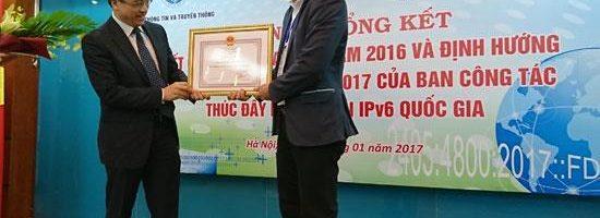 FPT Telecom nhận Bằng khen của Bộ trưởng Bộ TT&TT về thành tích triển khai IPv6