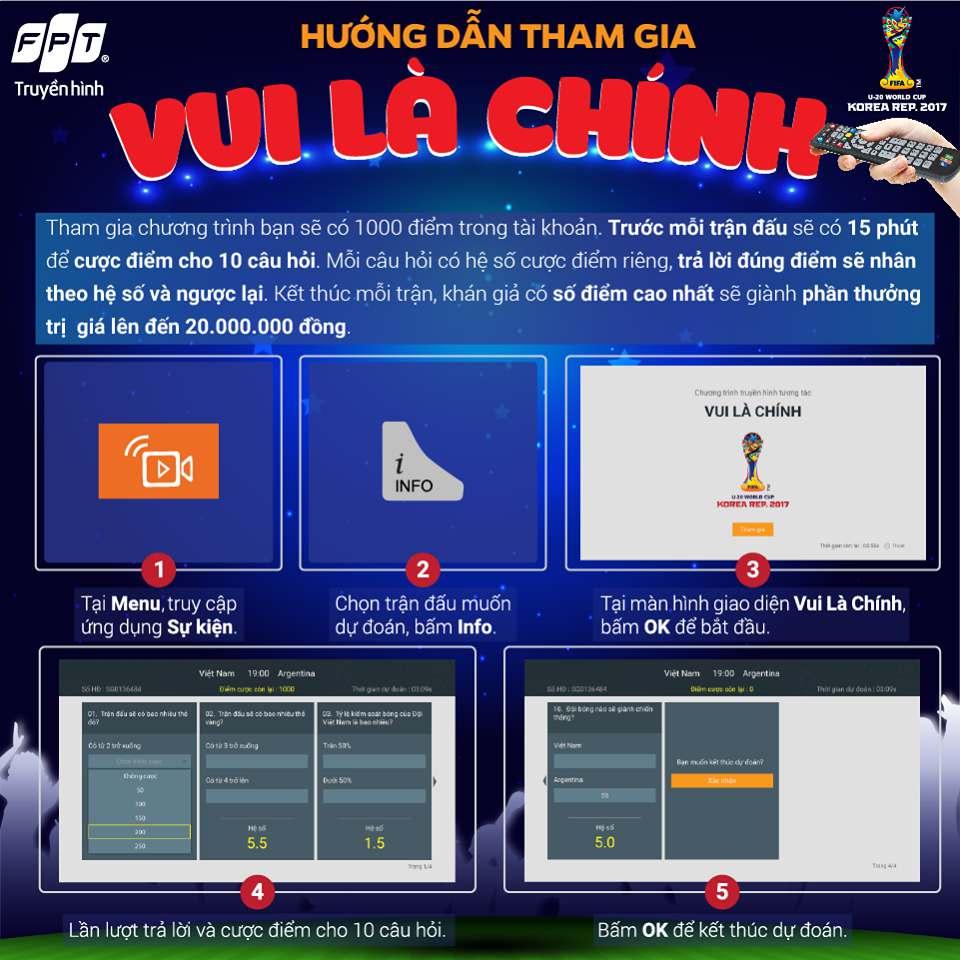 """""""Vui là chính"""" - Chương trình tương tác mới toanh dành cho sự kiện U-20 World Cup 2017"""