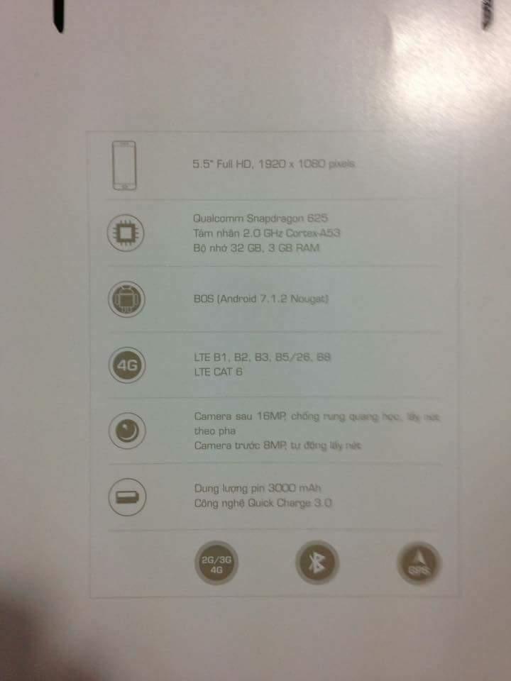 thông số và cấu hình chi tiết smartphone Bphone 2