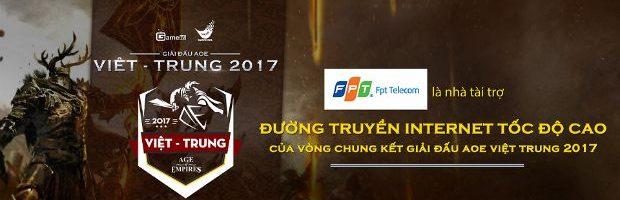FPT Telecom tài trợ đường truyền Internet cho chung kết AoE Việt - Trung 2017
