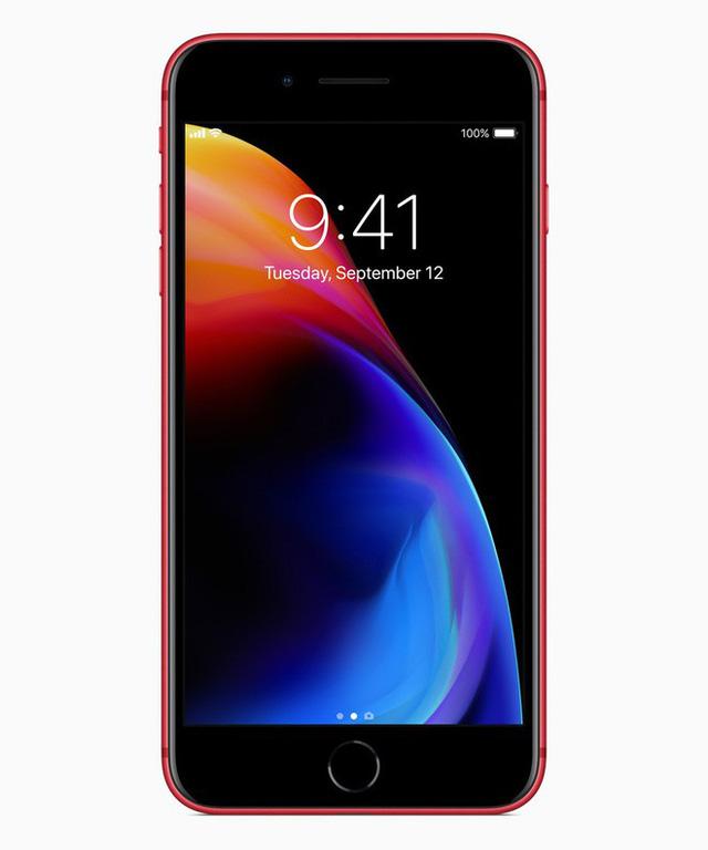 Hình ảnh Chính Thức Iphone 8 Và 8 Plus đỏ Productred Mặt