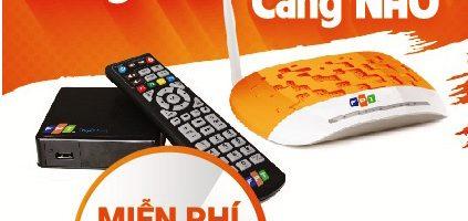 Miễn phí 100% phí lắp đặt gói Combo truyền hình + internet FPT